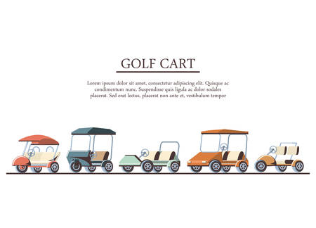 golf cart in the club vector illustration design