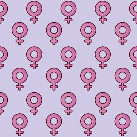female symbol pattern, colorful design. vector illustration