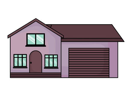 modern house icon over white background, vector illustration Stock Illustratie