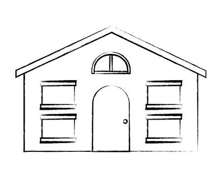 modern house icon over white background, vector illustration 일러스트