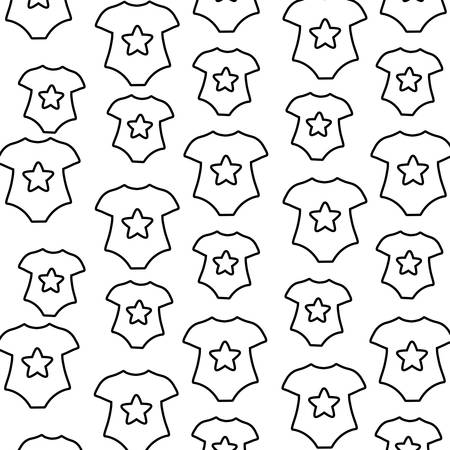 background of baby clothes pattern, vector illustration
