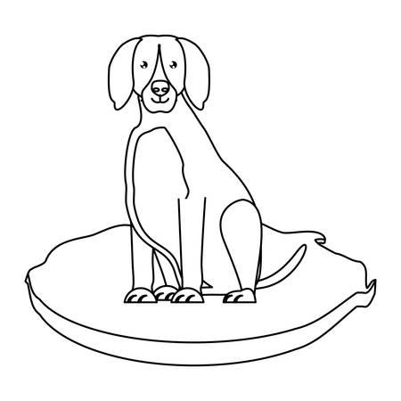 doberman dog icon over white background, vector illustration Illusztráció