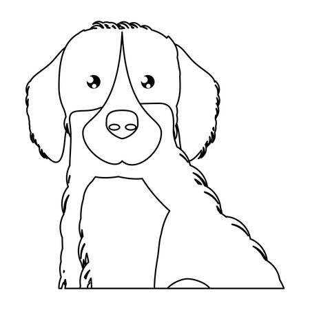 cute golden retriever dog icon over background, vector illustration Illustration