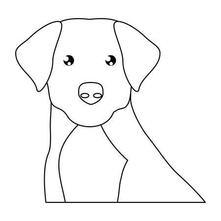 cute labrador dog icon over background, vector illustration