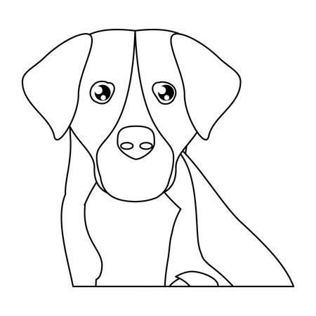 weimaraner dog icon over white background, vector illustration