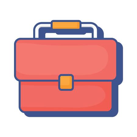 business portfolio icon over white background, vector illustration