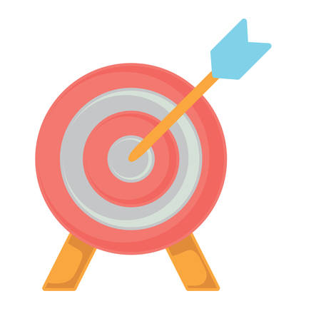 target icon over white background, vector illustration