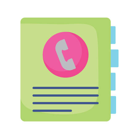 phone book icon over white background, vector illustration