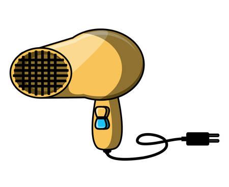hair dryer over white background, vector illustration