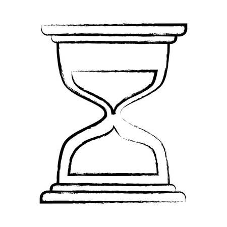 hourglass icon over white background, vector illustration