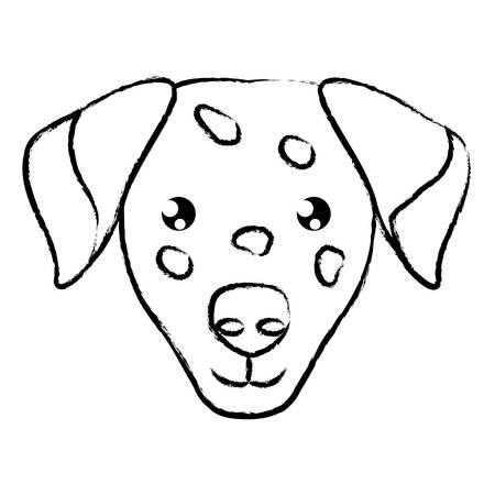 cute dalmatian dog icon over background, vector illustration