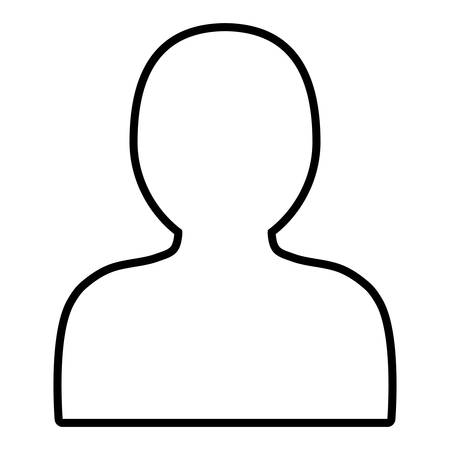 Avatar-Mannikone über weißem Hintergrund, Vektorillustration Vektorgrafik