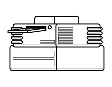 retro game console icon over white background, vector illustration