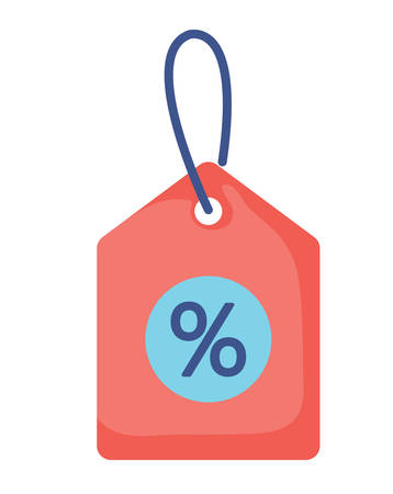 discount tag icon over white background, vector illustration