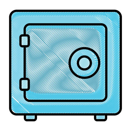 strong box icon over white background, vector illustration