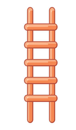 ladder icon over white background, vector illustration 矢量图像