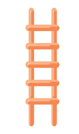 ladder icon over white background, vector illustration