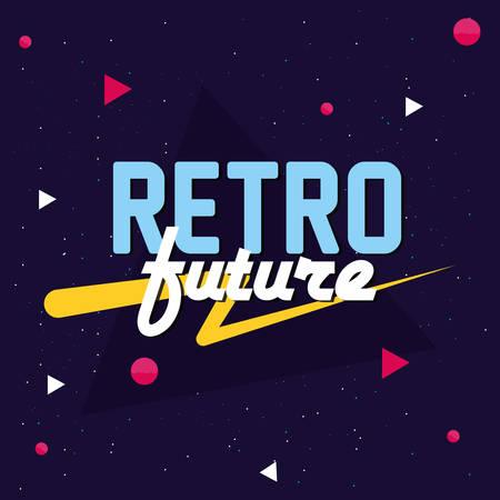 retro future label icon vector illustration design