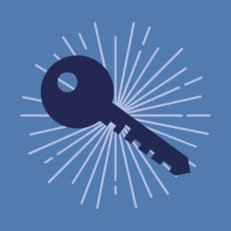 key secure fintech icon vector illustration design