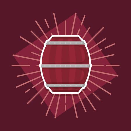beer barrel wooden icon vector illustration design
