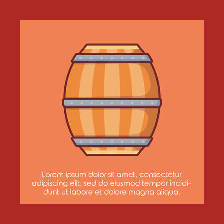 beer barrel wooden icon vector illustration design