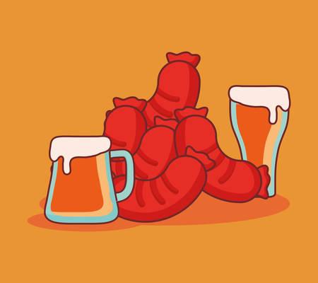 delicious sausage frankfurter icon vector illustration design Stock Illustratie