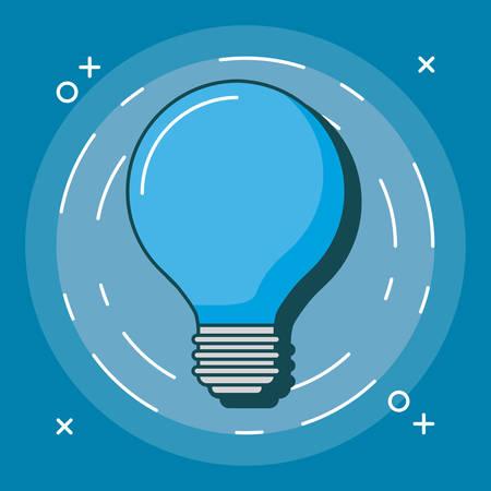 bulb light icon over blue background, colorful design. vector illustration