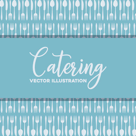 background of catering concept with cutlery pattern, colorful design. vector illustration