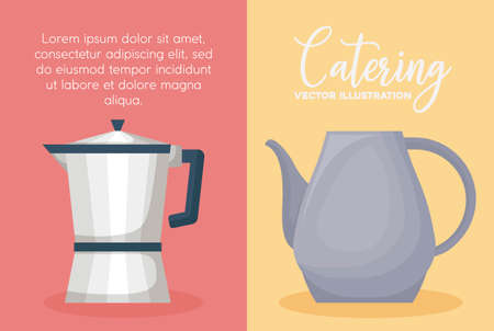 infographic of cooking utensils over colorful squares, vector illustration