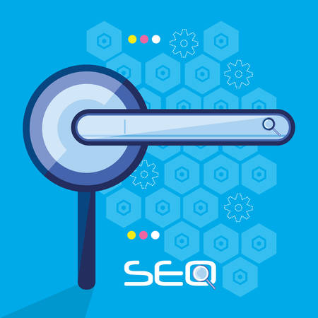 search engine optimization with magnifying glass vector illustration design
