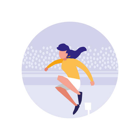 woman practicing running avatar character vector illustration design Foto de archivo - 110008829