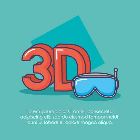 virtual reality goggles gadget innovation technology vector illustration Vettoriali