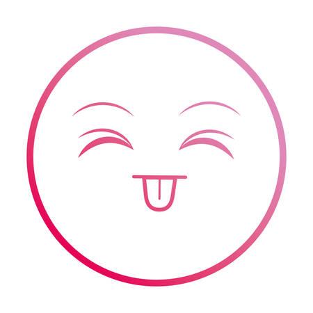 smiley tongue out  emoticon face vector illustration neon Archivio Fotografico - 108265547