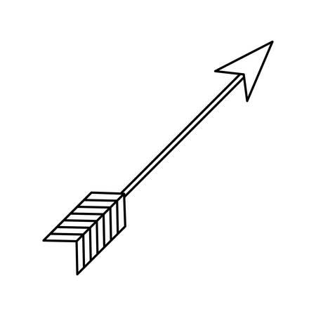 rustic arrow weapon ornament icon vector illustration thin line