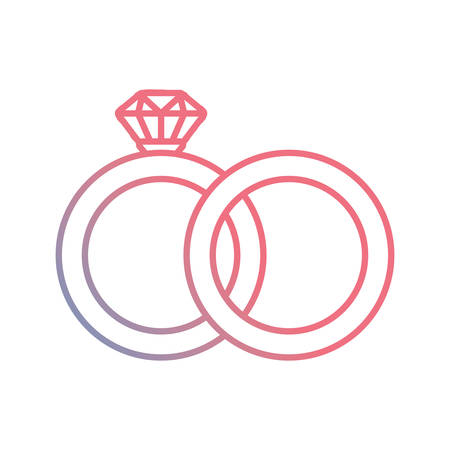 engagement rings icon over white background, vector illustration Иллюстрация