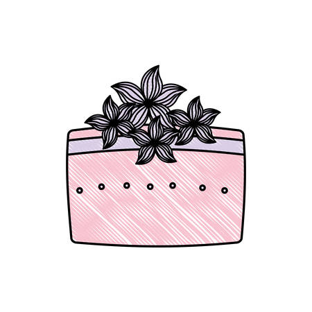 wedding cake floral decoration vector illustration Vektorové ilustrace