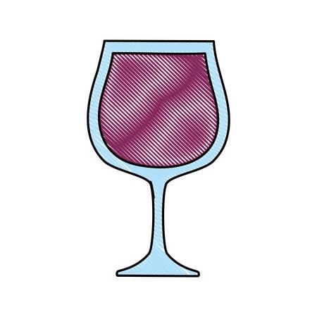 champagne glasses toast love celebration vector illustration
