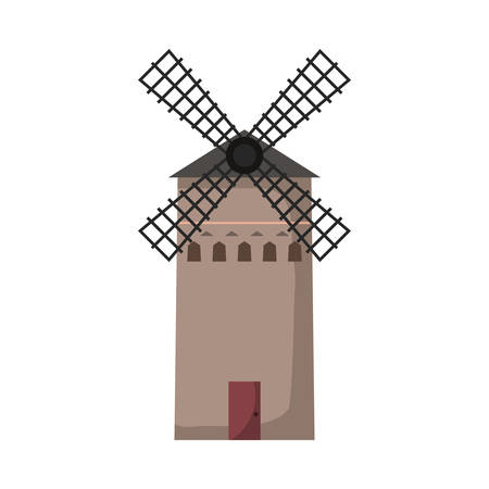 farm windmill icon over white background, vector illustration Reklamní fotografie - 109894917