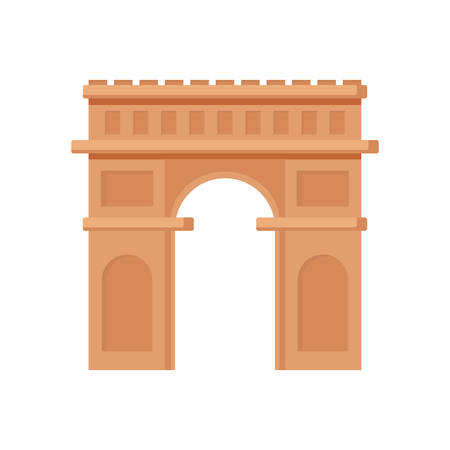 arch of triumph icon over white background, vector illustration Illustration