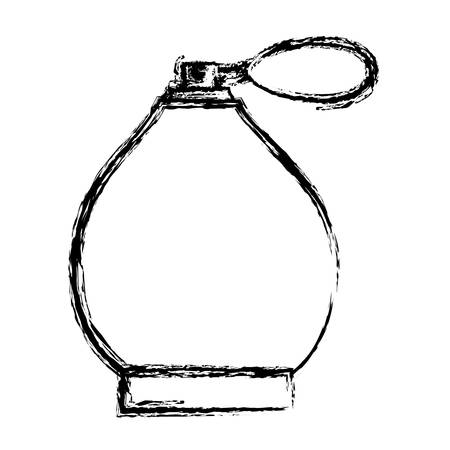 fragance bottle icon over white background, vector illustration