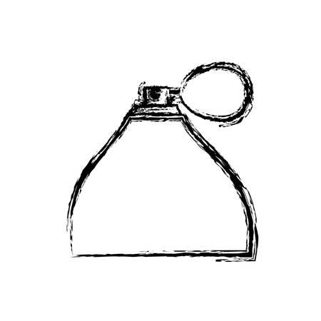 fragance bottle icon over white background, vector illustration