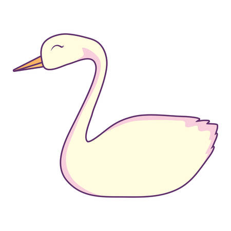 swan icon over white background, vector illustration  イラスト・ベクター素材
