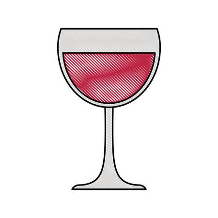 champagne glass toast drink icon vector illustration Ilustração