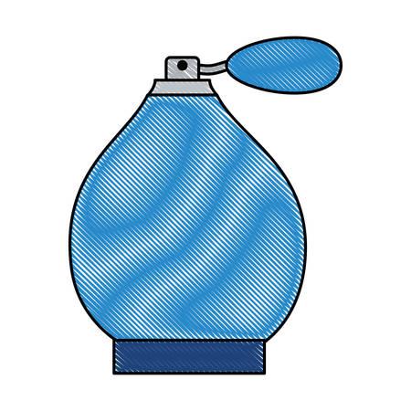 fragrance spray perfume fashion icon vector illustration