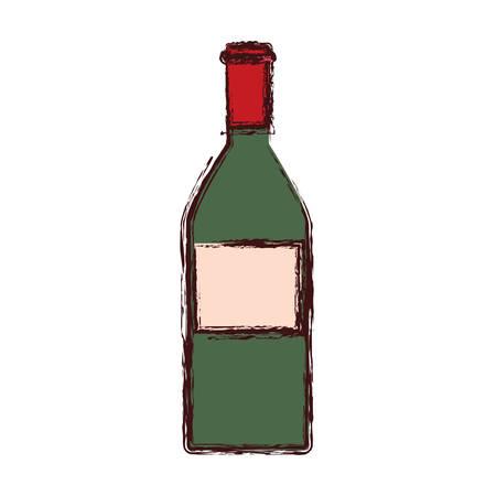 wine bottle drink alcohol icon vector illustration 일러스트