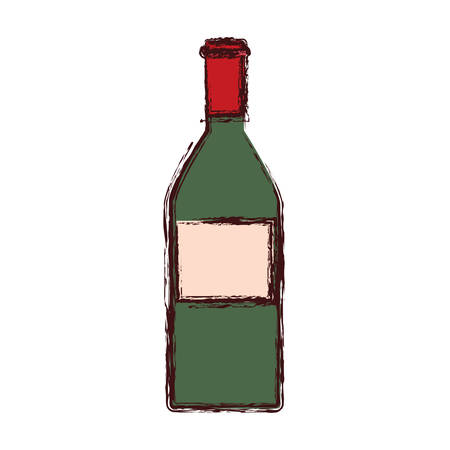 wine bottle drink alcohol icon vector illustration 向量圖像