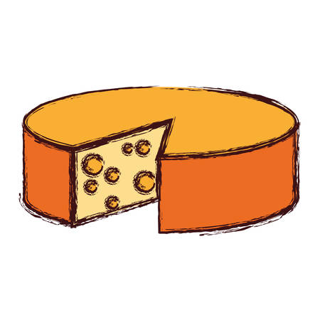 cheese round food nutrition diet vector illustration