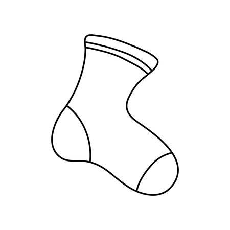 Icono de calcetín de bebé sobre fondo blanco, ilustración vectorial