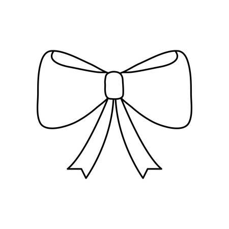 decorative ribbon icon over white background, vector illustration