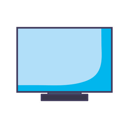 computer over white background, vector illustration